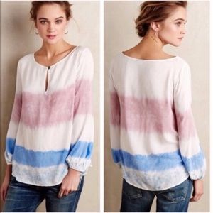 Anthropologie Holding Horses Tie Dye Peasant Top